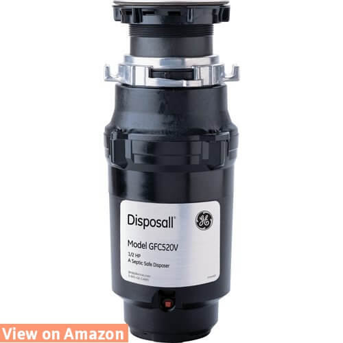 General Electric GFC520V 1/2 Horsepower Continuous Feed Disposall Large Capacity Food Waste Disposer