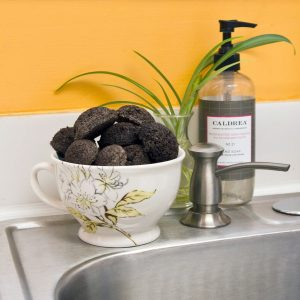 Removing Coffee Grounds from Disposal