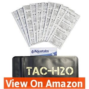 TAC-H2O Refill - 100 Aquatab Water Purification Tablets