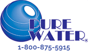 pure water logo and phone number 18008755915