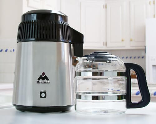Mega Home Counter Top Stainless Water Distiller, Glass Collection