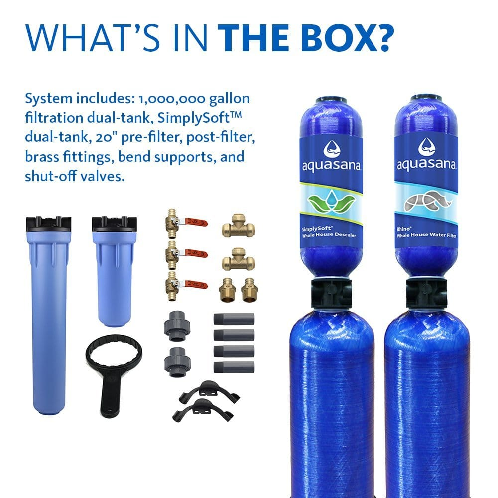 Aquasana Whole House Water Filter With Salt Free Softener