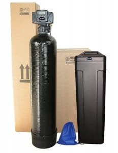 Fleck 5600sxt 48,000 Black SPACE SAVER Water Softener