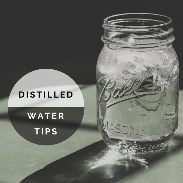 distilled water drinking tips