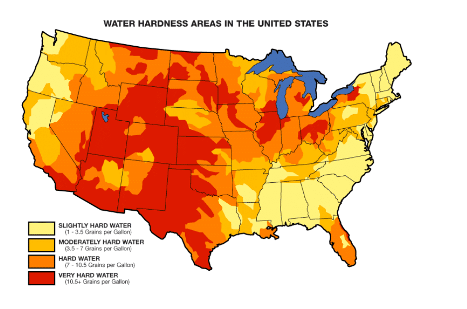 water hardness in the united states