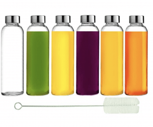 Three Drops of Life Glass Water Bottle