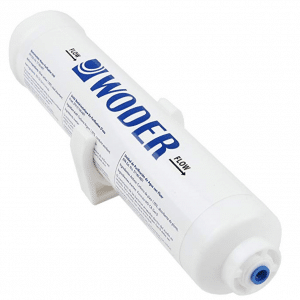 "Woder 10K-JG-1/4 Ultra High Capacity Inline Water Filter – 3 Years or 10K Gals - USA Made - with 1/4"" Built-in (Welded) JG Fittings – Fits All Unbraided ¼"" PVC or 1/8"" PEX"