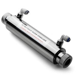 iSpring UVF11A 10-INCH Ultra Violet UV Sterilizer with Smart Flow Control Switch 11W, 110V