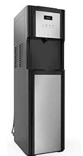 hOmeLabs Bottom Loading Water Dispenser for 3 or 5 Gallon Bottle - with Hot Cold and Room Temperature Settings Stainless Steel Design and LED Night Light - Home Office Dispenser with Child Safety Lock
