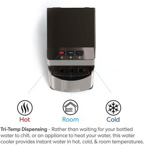product images of brio self cleaning water dispenser functions