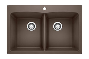 Product Image for BLANCO DIAMOND SILGRANIT 5050 Double Bowl Drop-In or Undermount Kitchen Sink