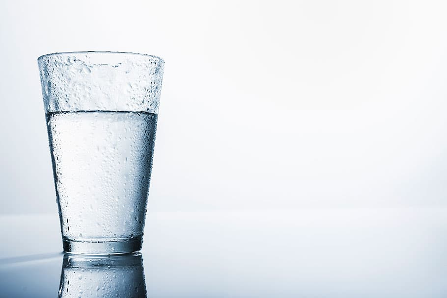 Image of a glass of water chilled