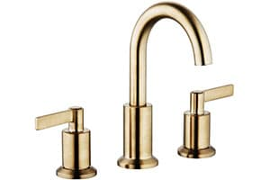 Product Image of Derengge LFS-0188-CS 8'' Widespread Two Handle Bathroom Faucet with Pop up Drain