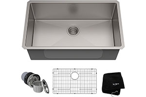 "Product image for Kraus KHU100-30 Kitchen Sink, 30"" Inch"