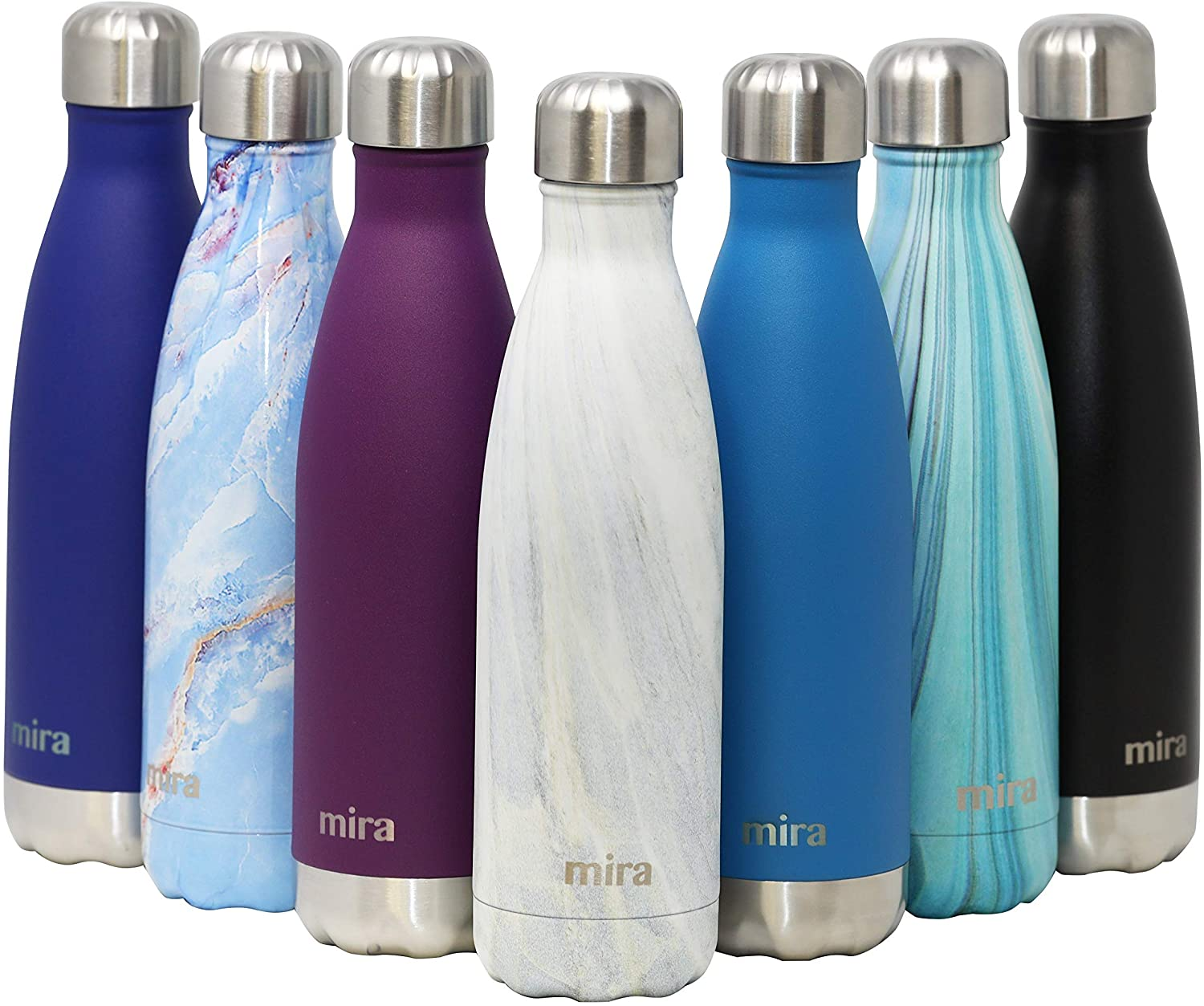 Mira 17 Oz Stainless Steel Vacuum Insulated Water Bottle