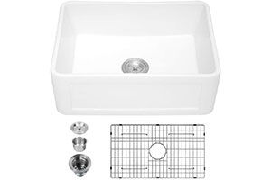 "Product Image for Sarlai 33"" Ceramic Fireclay Farmhouse Kitchen Sink"