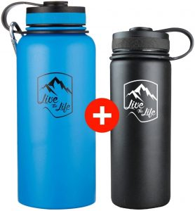 product image of Stainless Steel Water Bottle - Wide Mouth Bottle - Insulated Water Bottle
