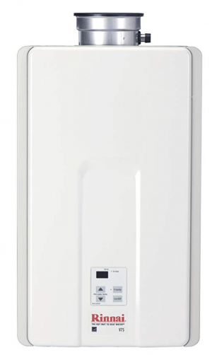 Product image of Rinnai V75IP 7.5 GPM Indoor Low NOx Tankless Propane Water Heater